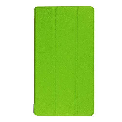 Adecuado para Lenovo Tab 7 Funda para Tablet PC Essential TB-7304F Soporte de Plegado Triple Funda de Cuero de 7 Pulgadas-Verde_Lenovo / Lenovo