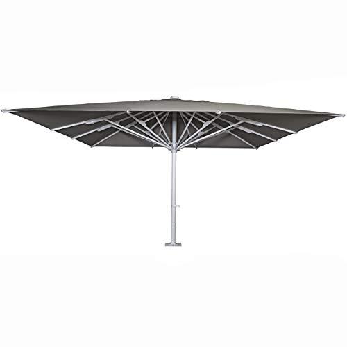 Mendler Gastronomie-Luxus-Sonnenschirm HWC-D20b, XXL-Schirm Marktschirm, 5x5m (Ø7,2m) Polyester/Alu 75kg ~ anthrazit