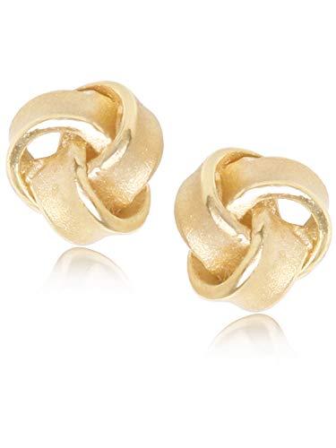 MyGold Ohrstecker Ohrringe Stecker Gelbgold 333 Gold (8 Karat) Ø 8mm Rund Goldstecker Goldohrringe Damenohrringe Knoten Knots V0012508