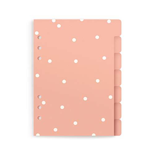 CHARUCA Set de 7 separadores para tu agenda de anillas. A5. Pink