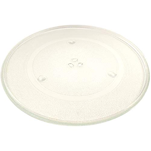 "HQRP 16 1/2"" Glass Turntable Tray Compatible with Bosch 00487763 HMB5060 HMB5051 HMB5050 HBL5750UC HBL5750UC Microwave Oven Cooking Plate 16.5-inch 420mm"