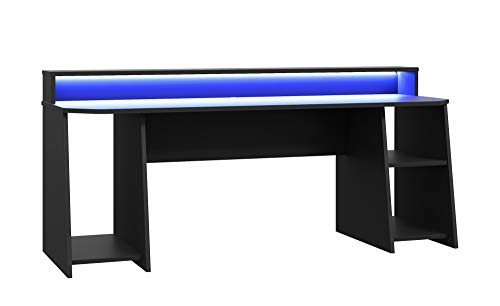 TEZAUR 5B Gaming Desk Computertisch mit LED-Beleuchtung, von Forte