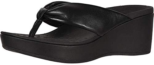 Vionic Women's Atlantic Arabella Toe-Post Platform Sandal - Ladies Wedge Sandals with Concealed Orthotic Arch Support