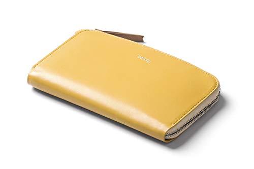 Bellroy Pocket, Damen Leder Geldbörse (für 6 Karten, Bargeld, Smartphone) - Lemon