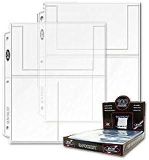 "BCW Pro 3-Pocket Page (100 Ct. Box) ( 4"" X 6"")"