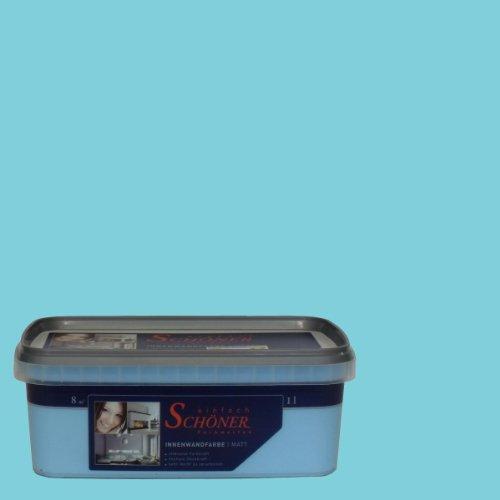 Wilckens Wandfarbe einfach Schöner Farbwelten, 1 L,  lagunen blau 13753826060