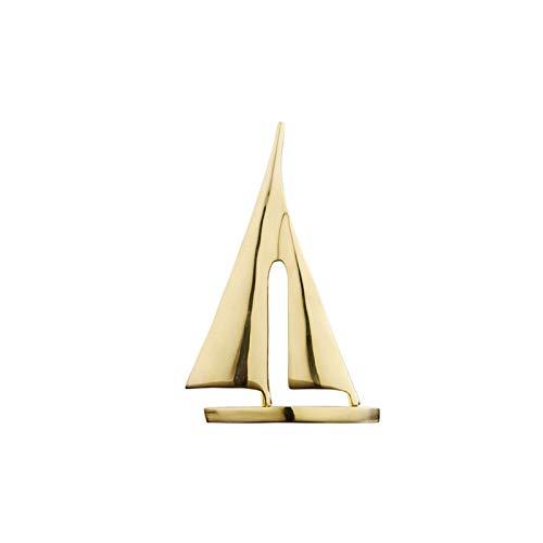 Estatuas Adornos de tablero de velero de latn, adornos para barco para la decoracin nutica en el hogar, adornos temticos de la playa para el bao del hogar dormitorio Estatua de la Estatua de Feng
