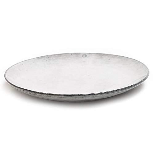 Broste Copenhagen Nordic Sand Speiseteller 26 cm sandfarben/grau/beige Teller Servierteller Porzellanteller nordisch skandinavisches Design Keramikteller spülmaschinengeeignet