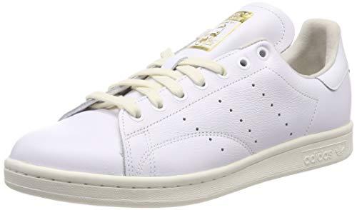 adidas Stan Smith Scarpe da fitness Uomo, Bianco (Ftwr White/Off White/Collegiate Green Ftwr White/Off White/Collegiate Green), 41 1/3 EU
