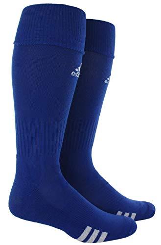 adidas Unisex Rivalry Soccer OTC Socks (2-Pair), Cobalt/ White, Small