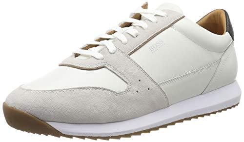 BOSS Sonic_Runn_ltsd, Herren Sneaker, Weiß (White 100), 39 EU (5 UK)