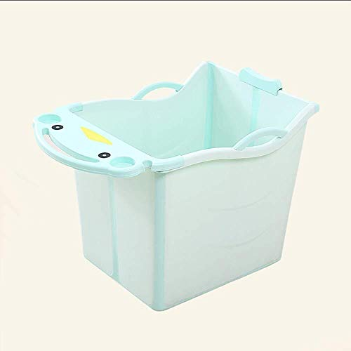 Children's bad emmer Opblaasbare Badkuip babybadje, Children's Zwemmen Bucket, inklapbare kinderwagen, Zwemmen Bucket, Zitten, baby Bad, Bad a + Baby vouwen tub (Color : Green)