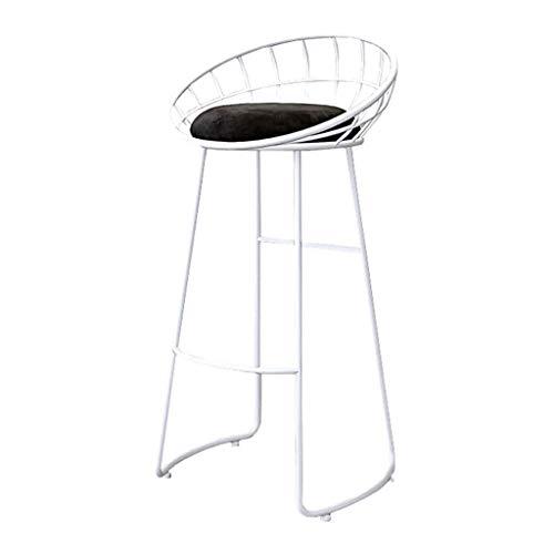 NJ barkruk barkruk met ergonomische velours, hoge rugleuning kruk keuken ontbijt stoel barkruk barkruk voetensteun 3.14 65cm(25.6 Inch)