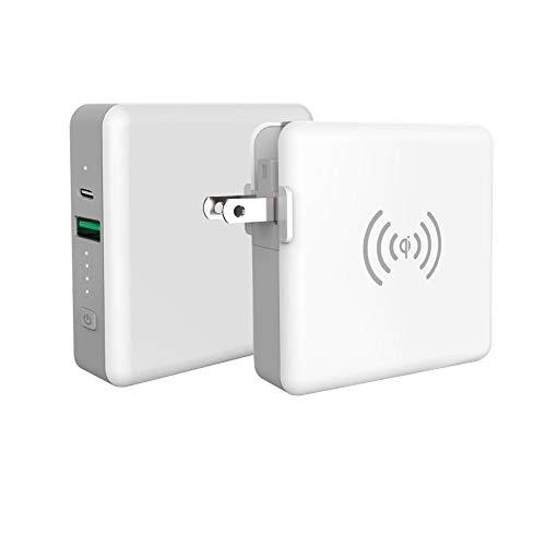 SuperMobileCharger Lite モバイルバッテリー qi ワイヤレス充電 コンセント ACプラグ付き タイプC 3A USB-A 5200mAh 小型 軽量 iPhone USB ACアダプター 携帯充電器 iPad