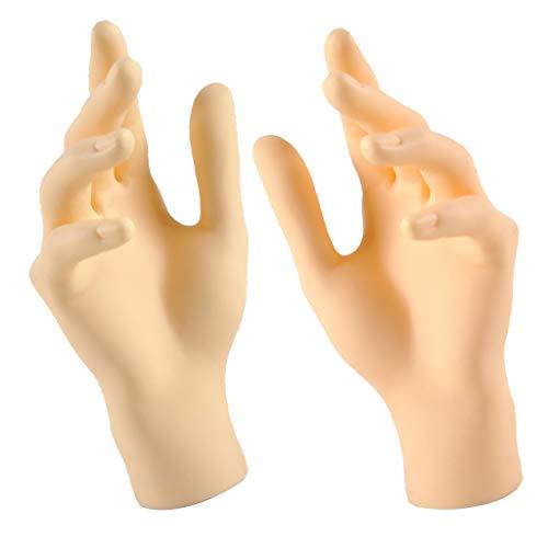 FLAMEER 1 Paar Schaufenster Dekohand Präsentationshand Ring Armband Handschuhe Display Halter Modell Hand - Hautfarbe - Weiblich