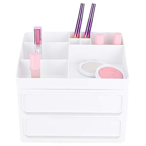 Multifunctionele opbergdoos voor make-up, stofdicht, waterdicht, make-up organizer + cosmetische opbergdoos met meerdere lagen opbergvak, voor vrouwen en meisjes