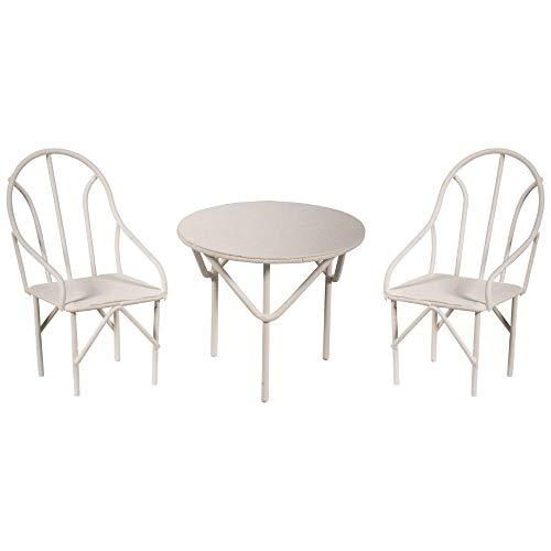 Rayher 46234102 Sitzgruppe 3tlg., weiß, 2 Stühle und 1 Tisch, SB-Btl 1 Set