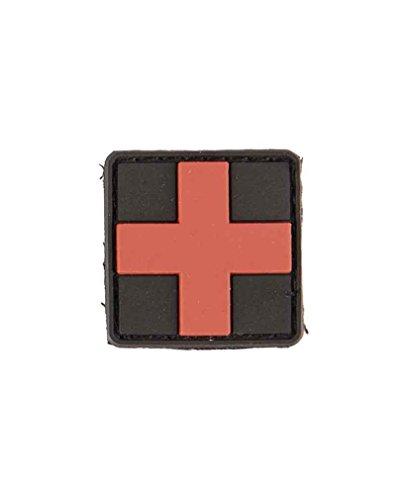 Patch 3D First Aid PVC avec petite fermeture Velcro. S Noir