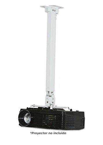 Soporte de Techo para proyector Extensible Desde 1 hasta 1,80 Metro, Color Blanco