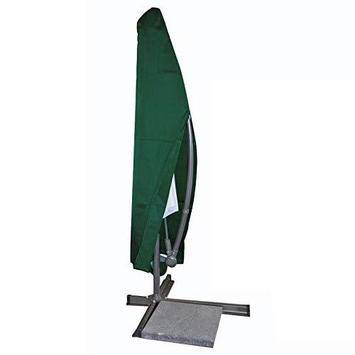 WOLTU GZ1163 Copertura per Ombrellone da Giardino Telo di Coperture Mobili Cover Protezione Parasole Esterni PE Verde