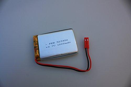 Lipo-Akku 3,7V 1000mAh 1S + JST-SYP-2P Stecker + Schutzschaltung