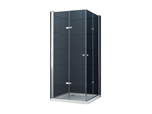 Eckeinstieg Duschkabine Dusche VIGO 80 x 80 x 180cm / 8 mm/ohne Duschtasse