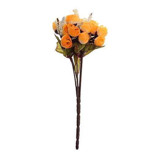Citroen-Land Geschenken Feestartikelen Bruiloft Thuis Decor Camellia Bloemen Kunstmatige Roos Madeliefje Zijde Bloemen