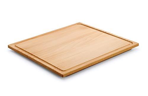 Rieber - Tabla de cortar de madera, 20 x 325 x 352 mm, con bordes planos, adaptable para el fregadero integrado del electrodoméstico Waterstation de Rieber