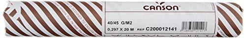Canson 12141 - Rotolo di carta da lucido, 20 x 0,297 m, 40/45 g, colore: Trasparente