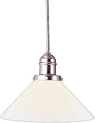 Dainolite DLSL701-WH-SC Modern 1-Light Pendant Satin Chrome