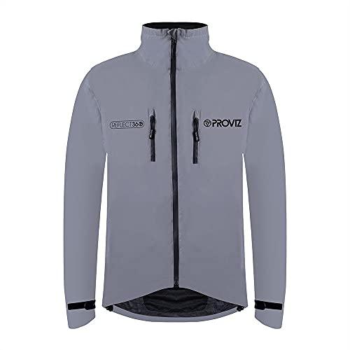Proviz PVR360JM Reflect360 Mens Cycling Jacket, Fully Reflective, Large