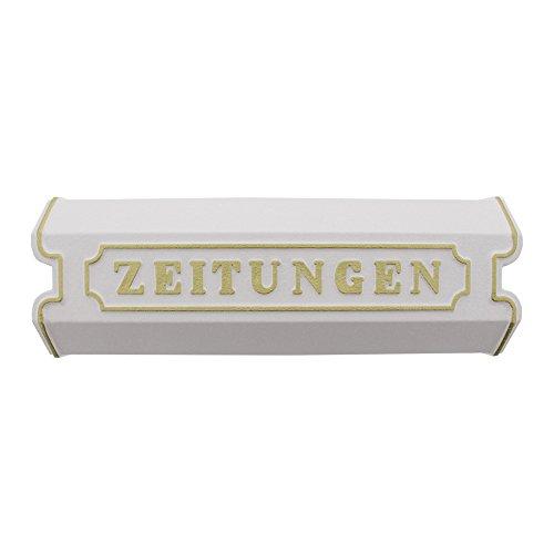 Burg-Wächter Zeitungsbox mit Beschriftung, Alu-Guss, 1890 W, Weiß