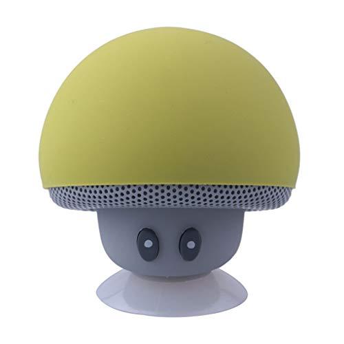 Vokmon Altavoz Bluetooth Seta de Dibujos Animados Ventosa Soporte de teléfono estéreo portátil al Aire Libre Pequeño