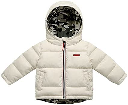 New Children's Red Down Padded Jacket Double-Sided Wear Boys and Girls Thick Winter Coat for 18-24 Months
