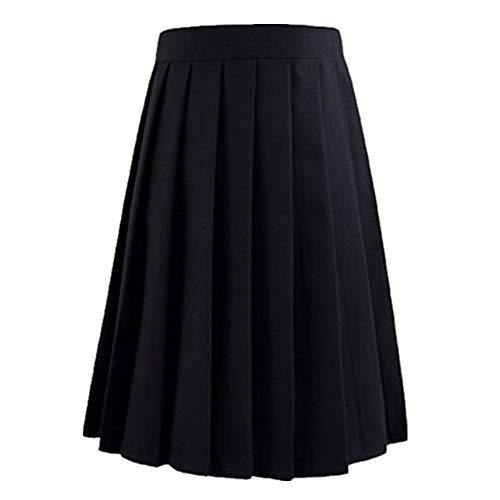 N\P Faldas Negras Mujeres Verano Cintura Alta Anime Kawaii Uniforme Escolar Corto Mini Blanco Rosa