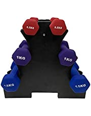 Fitness Minutes Vinyl Dipping Dumbbell Set, 6 Kg, DM6-V-S