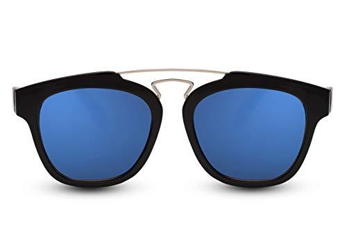 Cheapass Gafas de Sol Redondas Gafas Negras Espejos UV400 Variación Hombres Mujeres
