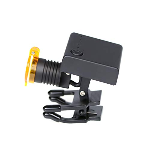 SoHome Portable 3W LED Wireless Headlight with Optical Filter for Binocular Loupes Plastic Clip