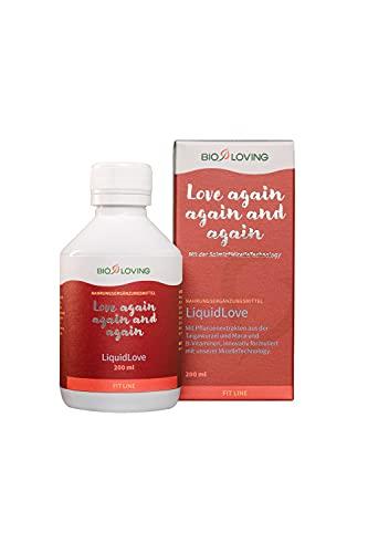 BIOLOVING LiquidLove mit Maca und Taigawurzel Extrakt,Vitamin B Komplex und Coenzym Q10, geeignet für den Alltag, bei nachlassender Lust oder Burnout, vegan, 200 ml