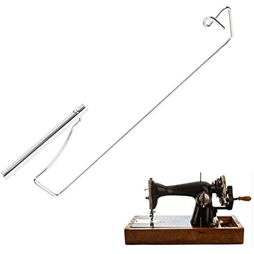 Suporte de linha para máquina de costura velha, acessórios de costura Suporte de linha portátil de aço inoxidável para máquina de costura antiga para carretéis pequenos grandes