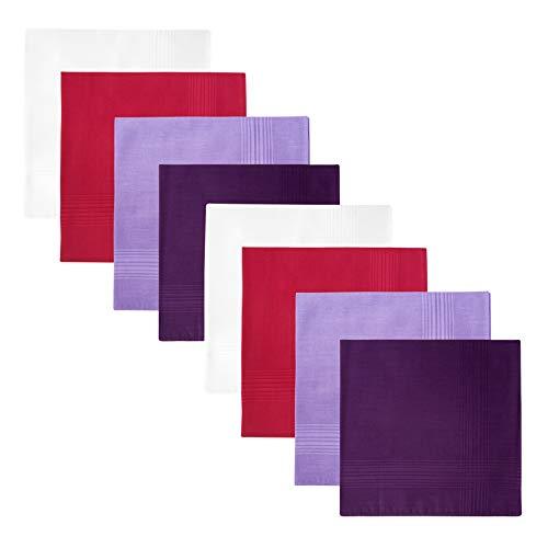 Retreez 8 Pezzi Puro Cotone Fazzoletti Assortiti per Uomo Confezione Regalo, regalo di Natale - Set Assortito A5A007