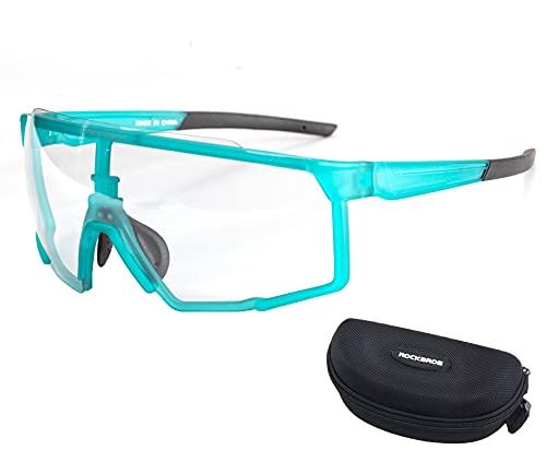 ROCKBROS Occhiali Sole da Ciclismo UV 400 Occhiali Sportivi per Bici MTB Bicicletta Uomo Donna Unisex Modello Fotocromatico