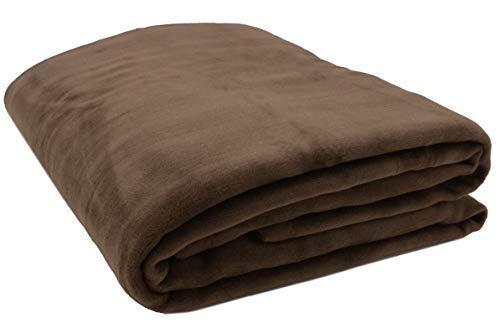 ZOLLNER Wolldecke braun 220 x 240 cm, Baumwollmix, viele Farben, Größen