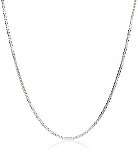Honolulu Jewelry Company Sterling Silver 1mm Box Chain (14 Inches) - Child Size