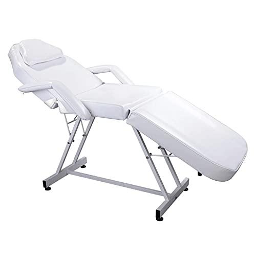 HuaBiao Mesa De Masaje Masaje Masaje Bed SPA Bed Altura AjustableAir Beauty Salon Silla Tatuaje Ligero Peso Plegable Salón Muebles (Color : White)
