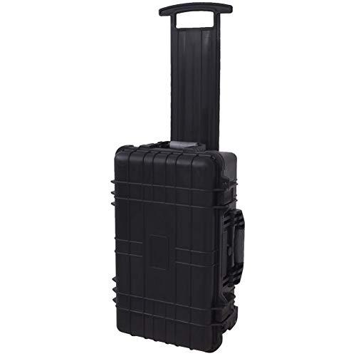 Estuche de seguridad, con ruedas/caja de herramientas con púa y desbrozado, 56 x 35 x 23 cm