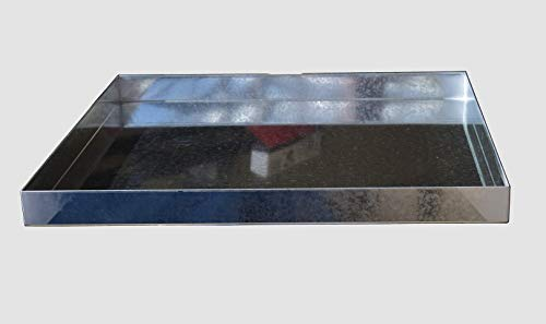 "32"" x 30"" 2.5"" Heavy Duty Washer Machine Drain Pan, Galvanized Steel Drip Tray Catch"