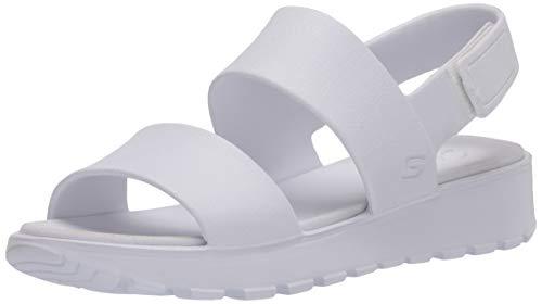 Skechers Footsteps-Breezy Feels, Sandalias de Talón Abierto Mujer, Multicolor (Wht Aqua Molded Eva), 37 EU