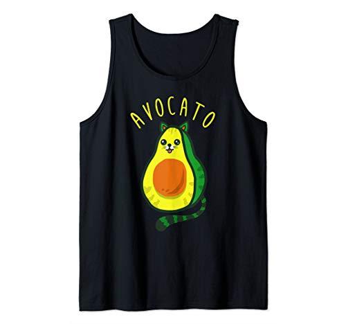 Cute Funny Avocado Cat Tank Top