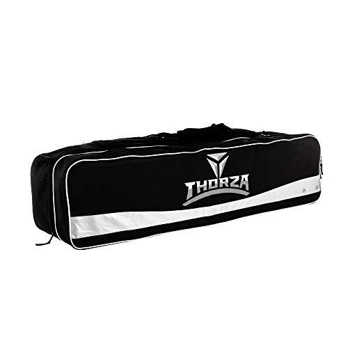 Thorza Lacrosse Equipment Bag (Extra Large) Multi Pocket Storage for Lacrosse Sticks, Balls, Gloves, Cleats, Pads, Goalie Gear, and Coach Supplies – Portable Travel Storage for Players and Coaches